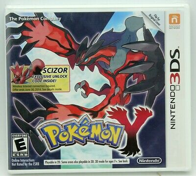 Nintendo 3DS Pokemon Y First Print Scizor Factory Sealed NTSC