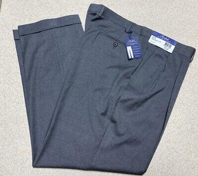 Ralph Lauren Comfort Flex Pleated Front Slacks Pants BLK Gray- Men's Size 38x30