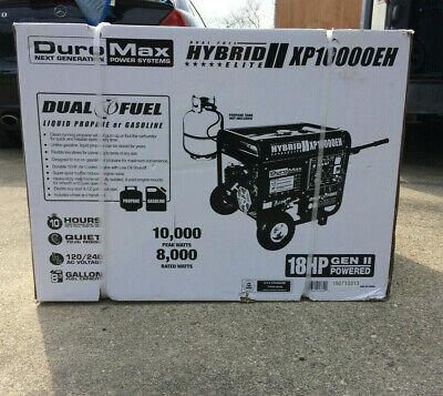 DuroMax 10000-Watt DUAL FUEL HYBRID Elec Start Portable Generator XP10000EH NEW