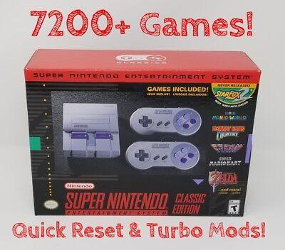 SNES Classic 7200+ Games - Super Nintendo Classic - Quick Reset & Turbo Mod