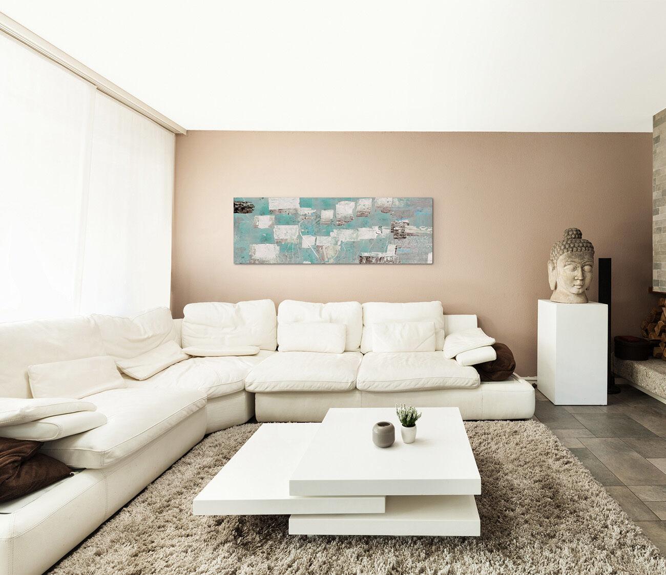 leinwandbild panorama grau t rkis schwarz beige paul sinus. Black Bedroom Furniture Sets. Home Design Ideas