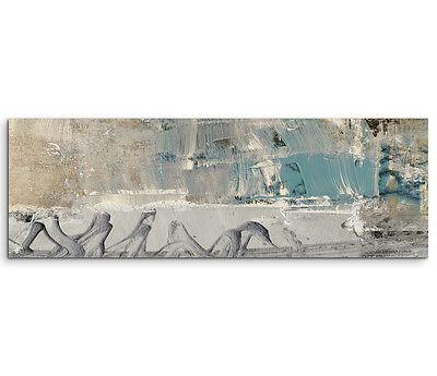 Leinwandbild Panorama grau blau braun creme Paul Sinus Abstrakt_528_150x50cm