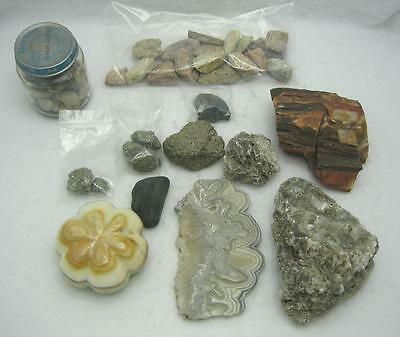 ASSORTED LOT OF COLLECTIBLE ROCKS & MINERALS