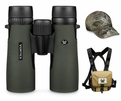 Vortex Optics Diamondback HD 8X42 Binocular w/ Vortex Harness Case and VX Hat