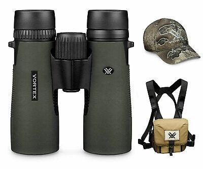 Vortex Optics Diamondback HD 10X42 Binocular w/ Vortex Harness Case and Free Hat