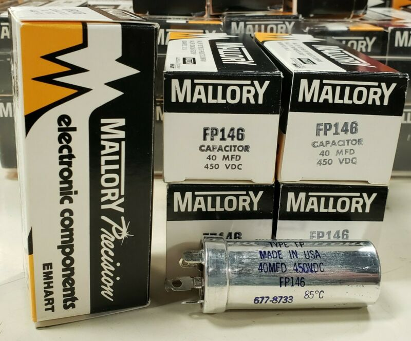 Mallory FP146 FP-146 Capacitor 40 MFD, 450 VDC BRAND NEW IN THE BOX