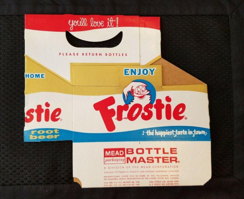 VTG. FROSTIE ROOT BEER SODA POP CARDBOARD CARTON - 12 oz. SIZE - UNUSED  bk - bb