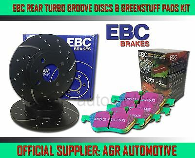 EBC REAR GD DISCS GREENSTUFF PADS 255mm FOR SEAT ALTEA/ALTEA XL 1.6 TD 2009-