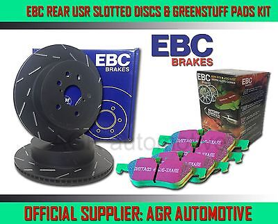 EBC REAR USR DISCS GREENSTUFF PADS 255mm FOR SEAT ALTEA/ALTEA XL 1.4 TURBO 2007-