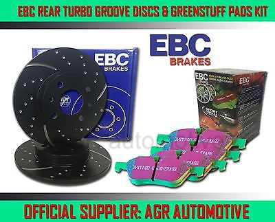 EBC REAR GD DISCS GREENSTUFF PADS 255mm FOR SEAT ALTEA/ALTEA XL 1.6 2004-