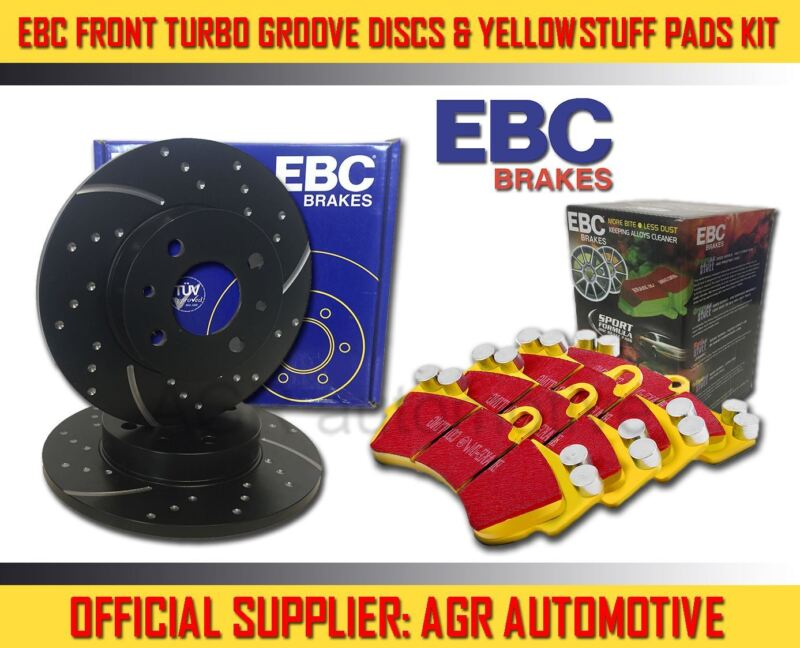 EBC FRONT GD DISCS YELLOWSTUFF PADS 296mm FOR LEXUS IS300H 2.5 HYBRID 2013-
