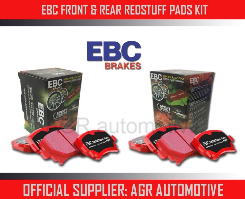 EBC REDSTUFF FRONT + REAR PADS KIT FOR LEXUS GS300H 2.5 HYDRID 2013-