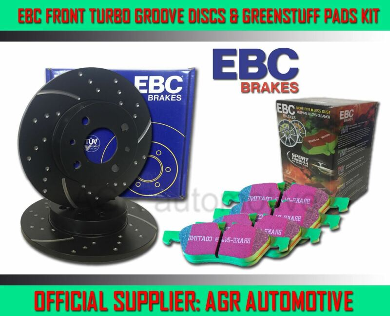 EBC FRONT GD DISCS GREENSTUFF PADS 296mm FOR LEXUS IS300H 2.5 HYBRID 2013-