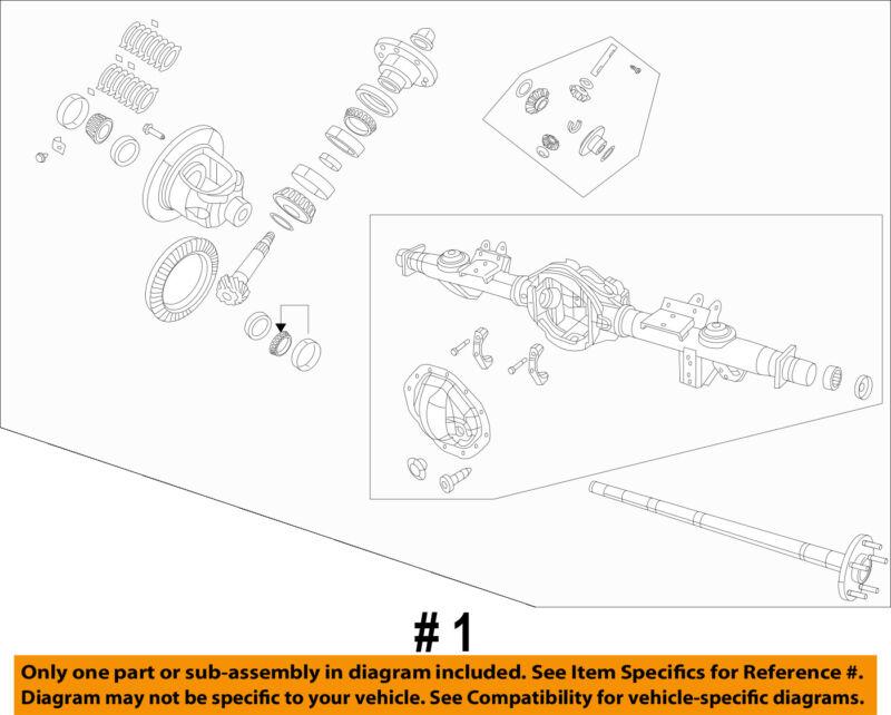 Ram Chrysler Oem 13-17 1500 Rear-axle 68142575ag