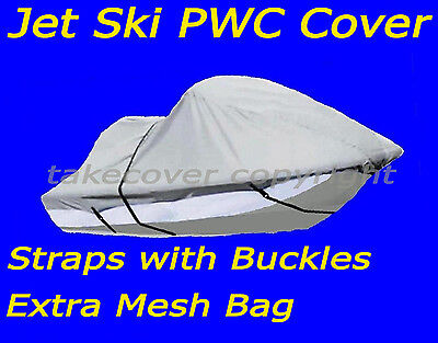 PWC Jet Ski watercraft Cover Sea Doo Polaris Yamaha Kawsaki 1-2P silver t759wzb