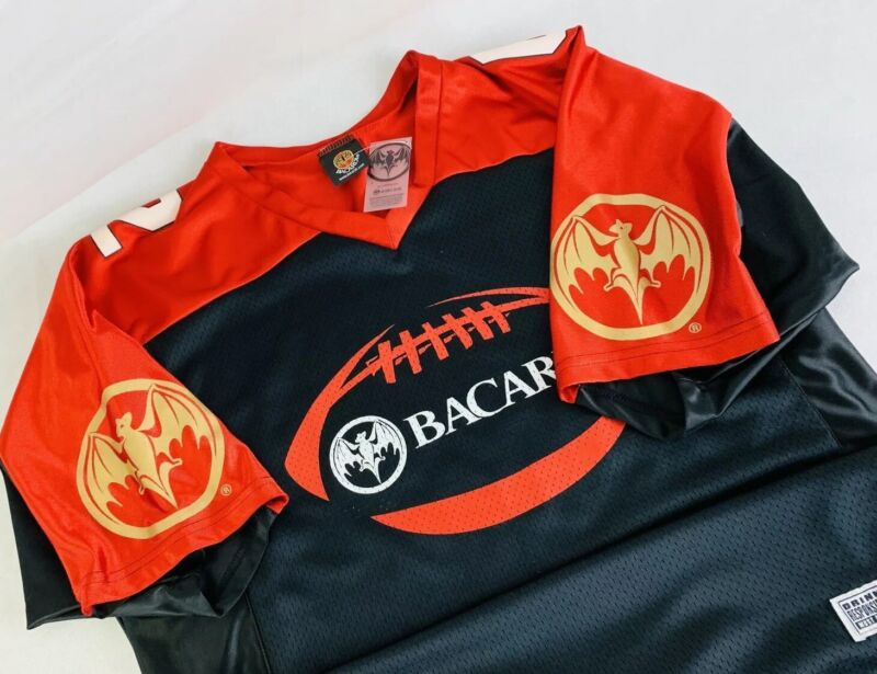 Bacardi Rum Promotional Football Jersey Size Mens Medium NWT