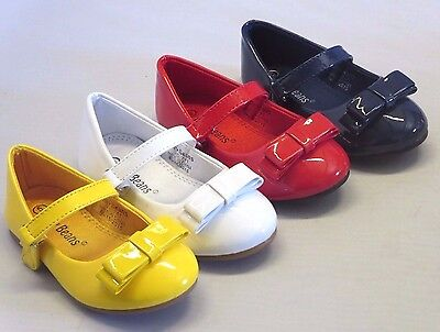 Girl Dress Flats Patent (rosara) Toddler Pageant Flower Girls Yellow Red White - White Toddler Dress Shoes