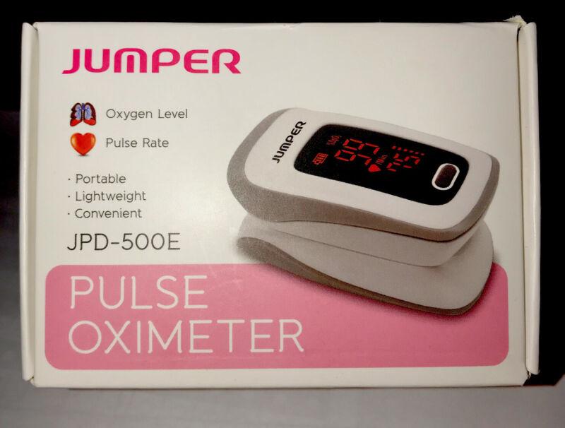 Jumper pulse oximeter, JPD-500E. Portable, Sealed, New. Must have for FLU season