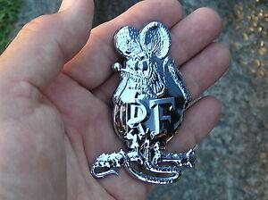 RATFINK-METAL-EMBLEM-Chrome-Car-Badge-UNIQUE-Harley-Davidson-Rat-Fink-Custom