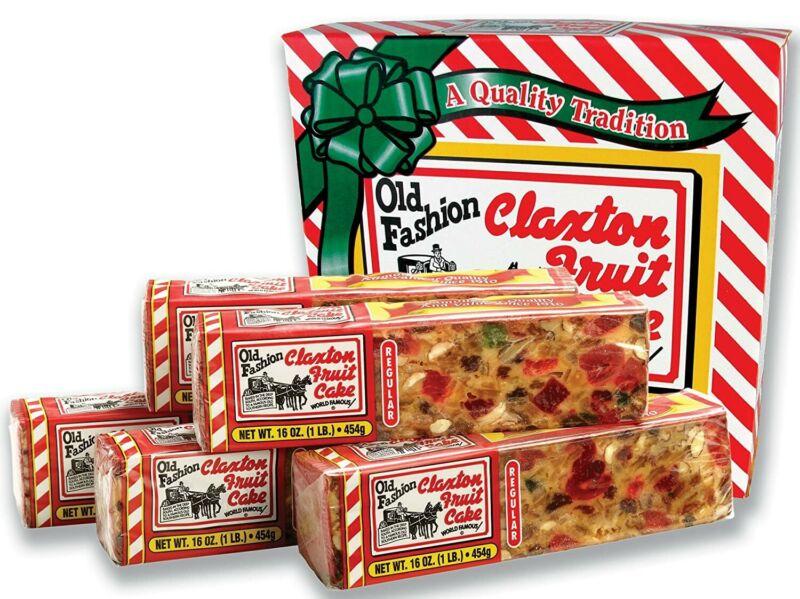 Claxton Fruit Cake (6) 1LB Cake
