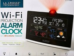 La Crosse Technology NEW C82929-INT WiFi Projection Alarm Clock with AccuWeather
