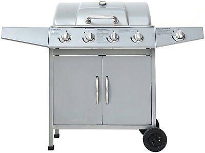 "Gasgrill ""DAYTON"" von El Fuego® 4 + 1 Brenner Grill BBQ Grillwagen Barbecue"