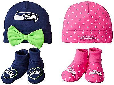 NFL Seattle Seahawks Gerber Childrenswear Cap & Bootie Sets, 0-6 Months