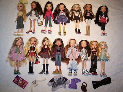 Huge Lot 15 Bratz Head Gamez Design Rina Princess Yasmin Maribel Valentina Twinz