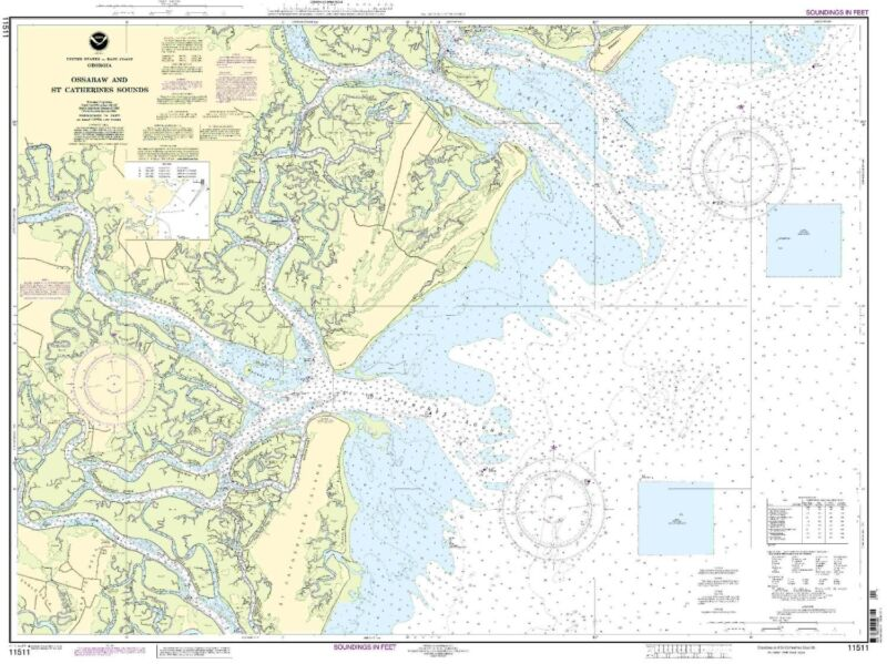 NOAA Chart Ossabaw and St. Catherine