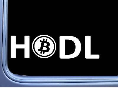 Bitcoin Hodl L690 8 inch Sticker hold cryptocurrency decal