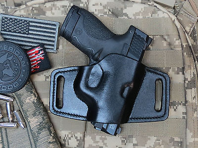 Off Duty Shield Leather Holster for M&P Shield 9mm & .40,OWB, Handmade Leather
