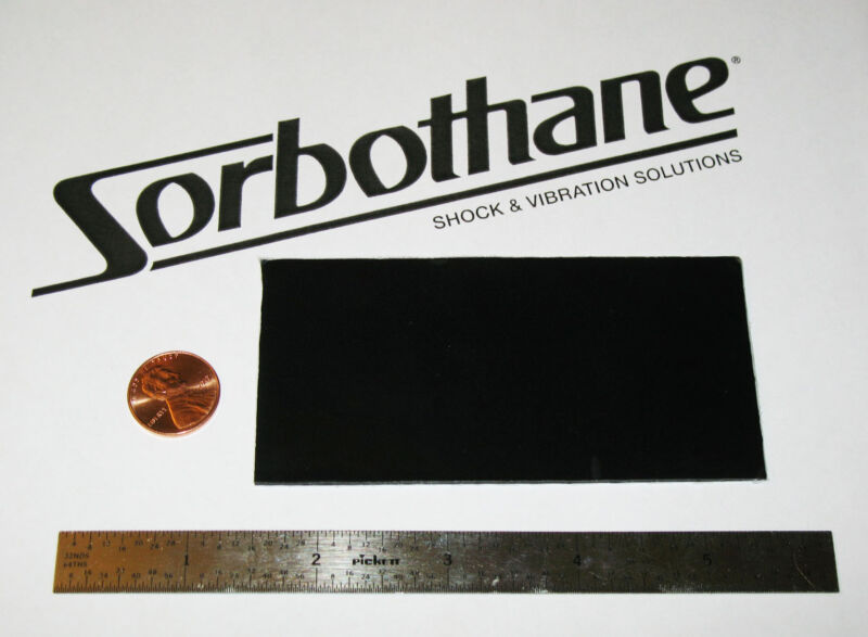 SORBOTHANE SHEET 2x4x0.06in (50x100x1.5mm) VIBRATION ISOLATION RUBBER PAD 50D