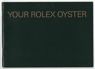 Booklet YOUR ROLEX OYSTER 2007 Daytona Explorer Submariner GMT Sea-Dweller OEM usato  Spedire a Italy