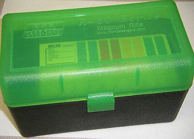 MTM Case Gard™ New MTM Plastic Ammo Box 50 Rd RSLD-50-16T Rifle 223/243/25 WSSM