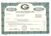 Green Bay Packers Stock Certificate
