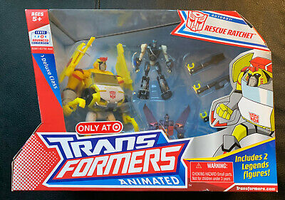 TRANSFORMERS ANIMATED RESCUE RATCHET STARSCREAM PROWL EXCLUSIVE NEW SEALED