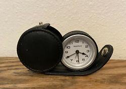 Radio Shack Small Compact Travel Alarm Clock Quartz Movement w/ Case