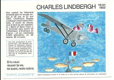 2 Buvards Sécurité Sobriété - CHARLES LINDBERGH N°25, (21 à 30 diponibles)
