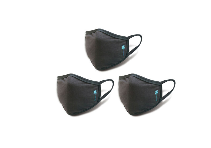 Anti-Dust Breathable Face & Mouth Mask - Black by Kezzled (Pack of 3)