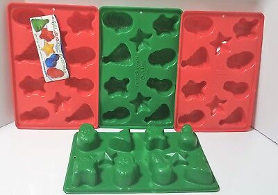 4 Jello Jiggler Red & Green Christmas Holiday Molds Candy Soap Shots w/Recipe ](Jello Shots Recipes)