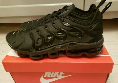 Nike Air Vapormax Plus Triple Black Trainers - BNIB, UK Size 9