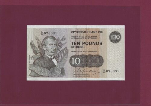 SCOTLAND 10 Pounds STERLING 1982 P-213 AUNC
