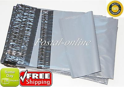 50 x Grey Plastic poly Mailing Bags 305 x 410 mm 12 x 16 postage poly postal