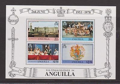 ANGUILLA MNH STAMP MINIATURE SHEET 1978 25TH ANNIVERSARY OF THE CORONATION MS324