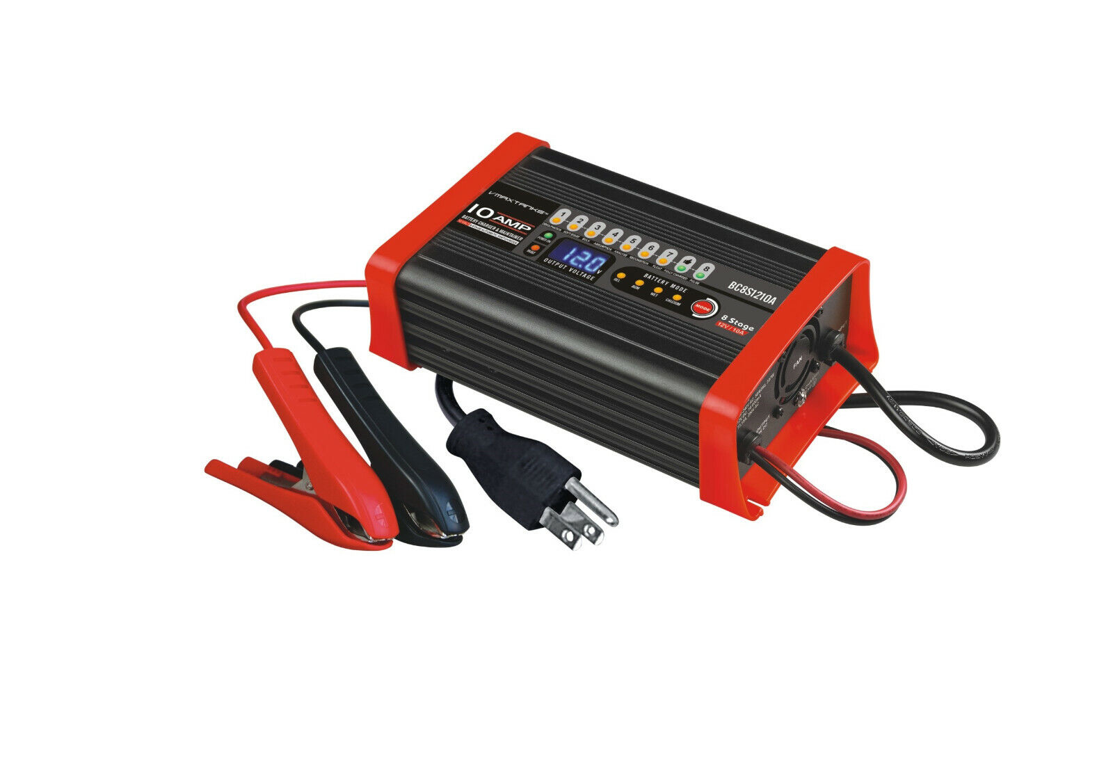 VMAX BC8S1210A 12V 10A Smart Charger and Tender for VMAXTANK