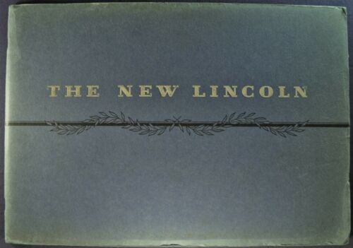 1931 Lincoln Prestige Brochure K-Body LeBaron Derham Dietrich Excellent Original