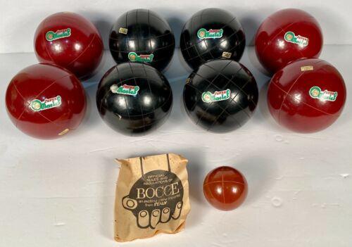 SUPER MARTEL Bocce Petanque Boule Set Pallino/Boccino Ball Original Box ITALY