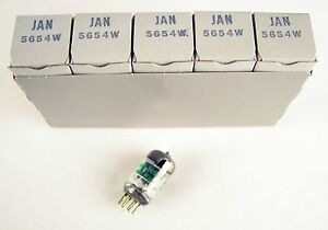 5-Pcs-NOS-GE-JAN-5654W-6AK5-audio-radio-Preamp-Tubes-NIB
