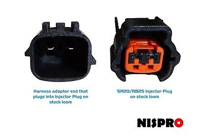 ASNU Harness Adapter from Injector to Stock RB25 and SR20 Loom R33 gtst S14 x4