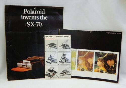 Vintage 1970s Polaroid SX-70 Land Camera Original Papers Manual Brochure